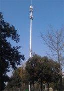 内蒙古赤峰单管通讯塔安装案例