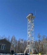 河北张家口森林瞭望铁塔安装案例