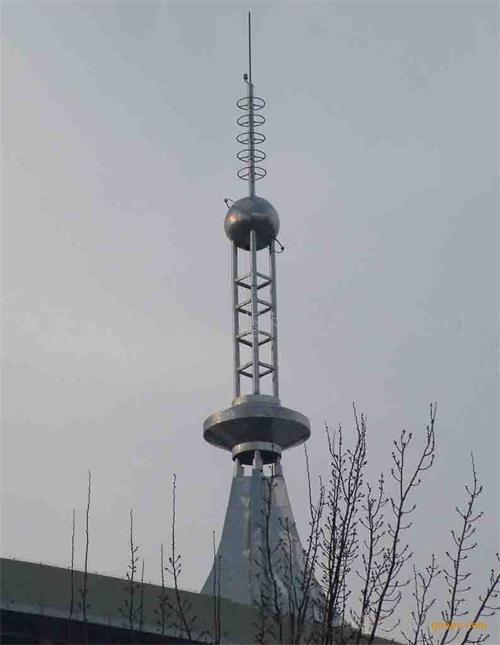 河南郑州不锈钢避雷塔安装案例