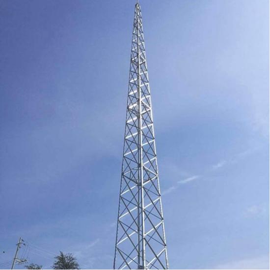二十五米角钢避雷塔安装图片